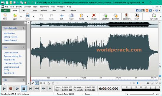 WavePad Sound Editor 13.09 Crack With Registration Code 2021 Download
